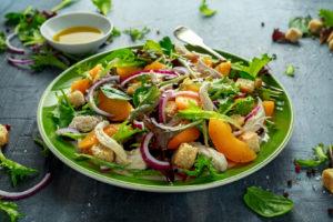 bog image for chicken peach salad