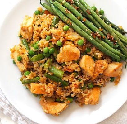 blog image for peanut chicken fried rice