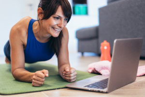 how to stay fit with on line training