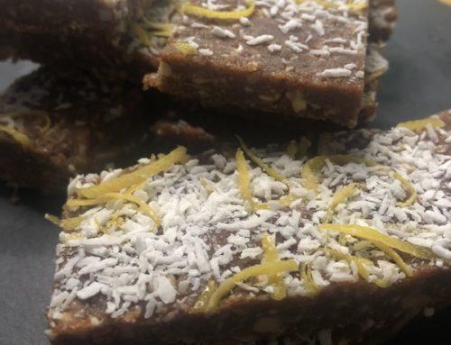 Cashew and almond lemon cream bars